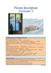 English Worksheet: Picture Description - Animals 2