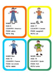 English Worksheets: 20 PERSONAL INFORMATION FLASHCARDS