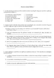 English worksheet: Folklore