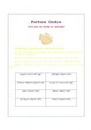 English Worksheets: Fortune Cookie: Conjunctions and Transitions
