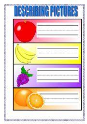 English Worksheets: DESCRIBING PICTURES