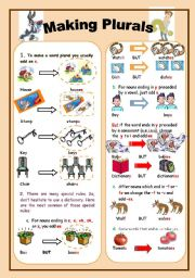 English Worksheets: making plurals part 1