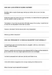 English Worksheets: Problem Page letters