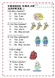 English Worksheets: Choose the correct answer