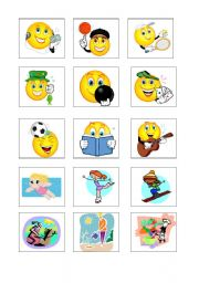 English Worksheet: Free Time Activities FLASHCARDS