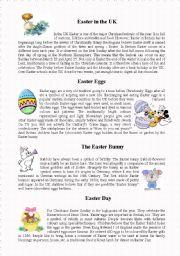 English Worksheet: Easter in UK