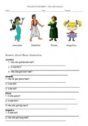 English Worksheets: Physica description - english worksheet