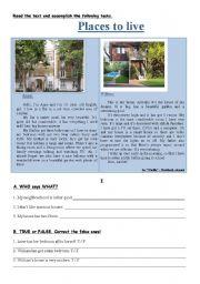 intermediate esl worksheets places to live. Black Bedroom Furniture Sets. Home Design Ideas