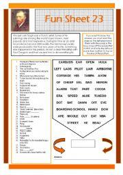English Worksheets: Fun Sheet 23