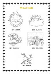 English worksheets the Weather worksheets page 43