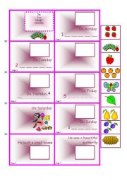 English Worksheet: Mini-book - The Very Hungry Caterpillar
