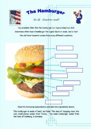 The Hamburger - An all-American meal? - 3 pages