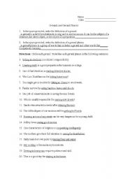 English Worksheets: 2nd Page KEY to Gerund Worksheet