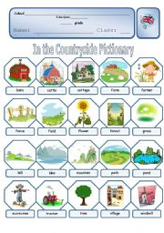 English Worksheet: Countryside pictionary