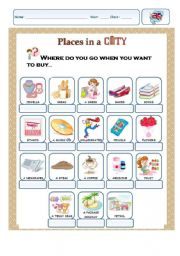 English Worksheet: Places in a city