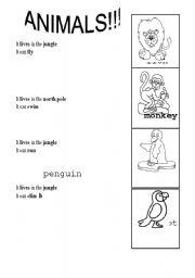 English Worksheets: Animals!!!