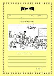 English Worksheets: Writing paper