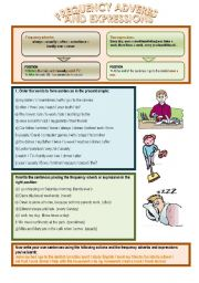 English Worksheet: Frequency adverbs and expressions