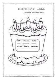 birthday cake esl worksheet by valleygirl. Black Bedroom Furniture Sets. Home Design Ideas