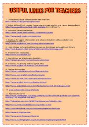 English Worksheets: USEFUL LINKS FOR TEACHERS (4 pages)