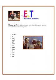 English Worksheets: E.T Movie Segment 5