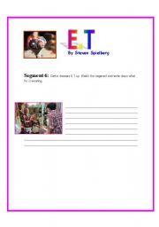 English Worksheets: E.T Movie Segment 6
