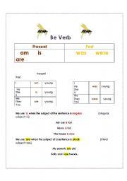 English worksheet: Understanding the be verb