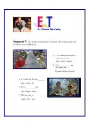 English Worksheets: E.T Movie Segment 7