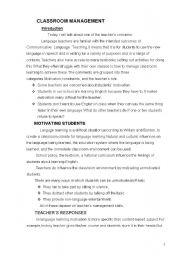 English Worksheets: teaching methods