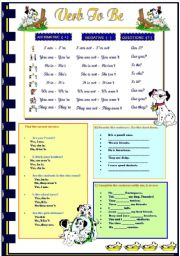 English Worksheet: Verb TO BE (review)