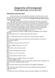English Worksheets: teaching methods-que-ans