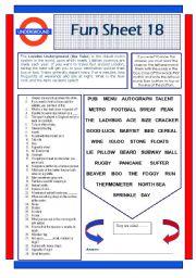 English Worksheets: Fun Sheet 18