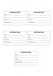Printable Bathroom Passes Printable Bathroom Passes For Students The