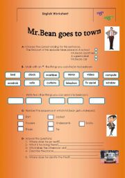Mr.Bean goes to town