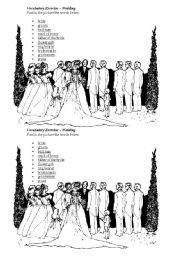 English Worksheet: Wedding vocabulary