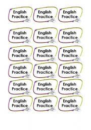 English Worksheets: English Practice Cards