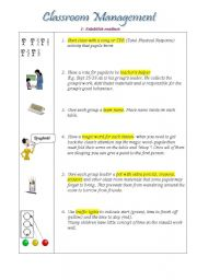 Classroom management 1- establishing routines