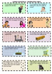 English Worksheet: Second Conditional - Conversation Cards