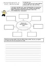 English Worksheets: writin handout