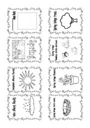 English Worksheets: Spring mini-book