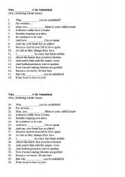 English Worksheet: Modals: song