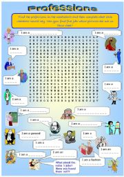 Wordsearch on Professions