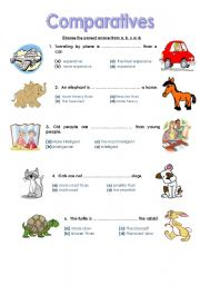 ... here grammar worksheets adjectives comparative adjectives comparatives