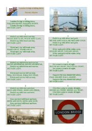 English Worksheet: london bridge is falling down - nursery rhymes