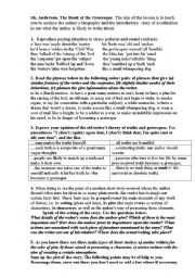 English Worksheets: Sh. Anderson. The Book of the Grotesque.