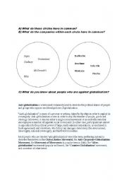 English Worksheets: international companies and globalization
