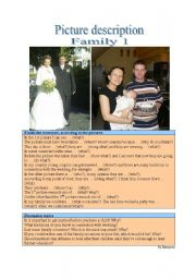 English Worksheet: Picture Description - Family 1