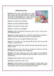 ESL kids worksheets: Sleeping beauty