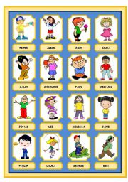 English Worksheet: WHO IS WHO? GAME (DESCRIBING WHAT PEOPLE ARE WEARING) PART 1