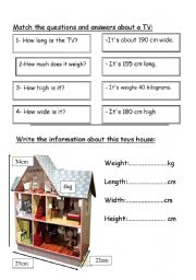 English Worksheets: measurements